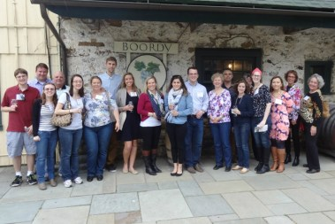 Members of the UMW Baltimore Network visited Boordy Winery in Maryland on a warm February day.