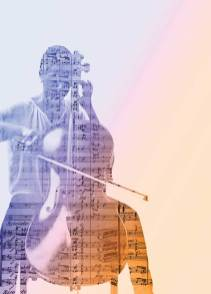The score of The Louisiana March and a photo of Bethel Mahoney playing cello make up this photo illustration by AJ Newell.