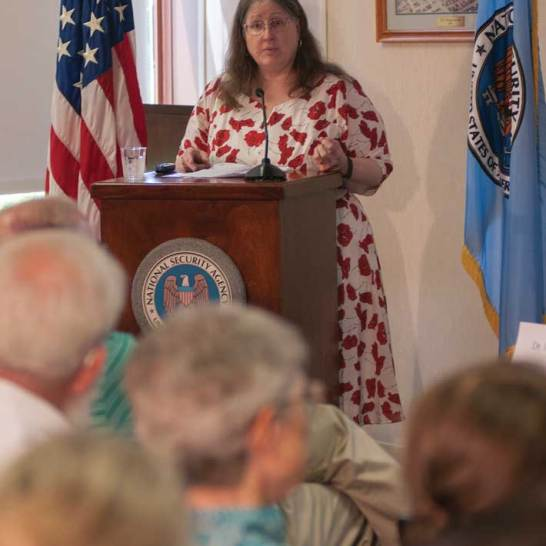 """Elizabeth """"Betsy"""" Rohaly Smoot '82 recently retired as a historian with the National Security Agency."""
