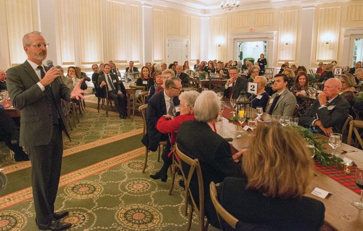 President Troy Paino addresses attendees of the Celebration of Giving in November.
