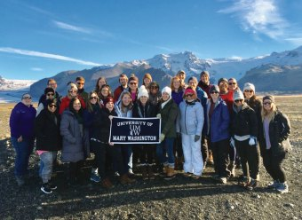 Twenty-nine alumni traveled to Iceland in October 2018 with UMW On the Road. The group spent time in Reykjavik and traveled the Golden Circle.