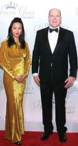 Alicia Austin and Prince Albert II of Monaco at the Princess Grace Awards