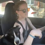 Jordan Kyler and her dog