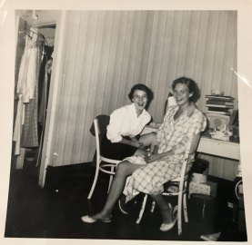 "1959 graduates Mary Fredman Downing and Cecelia ""Cece"" Bergin Robbins lived in Willard as first-year students."