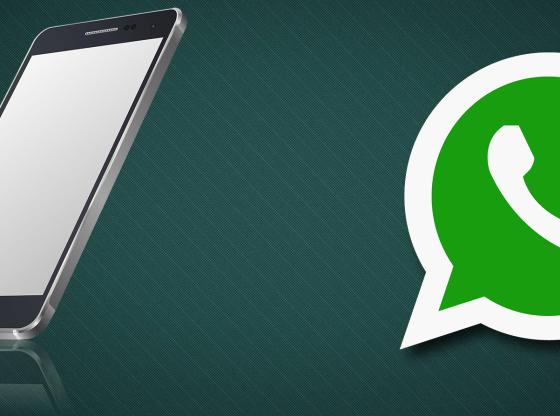 L'illustrazione mostra uno smartphone e il logo di WhatsApp