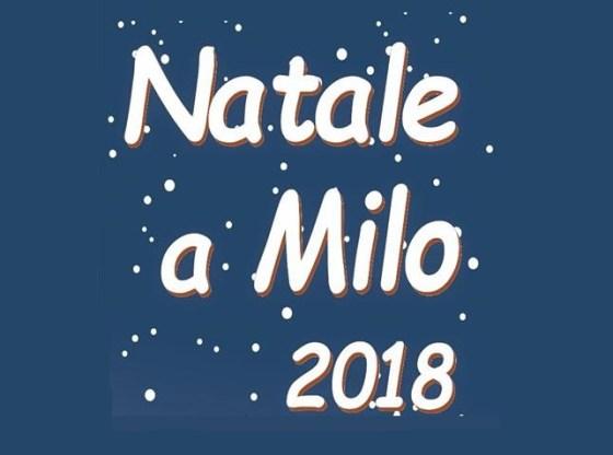 """L'immagine mostra la scritta """"Natale a Milo 2018"""""""