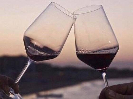La foto mostra due calici di vino
