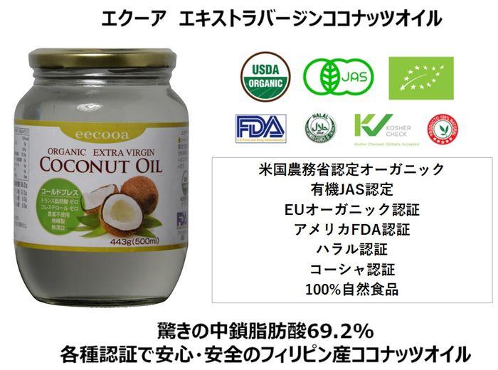 エクーアの最高品質エクストラヴァージンココナッツオイル