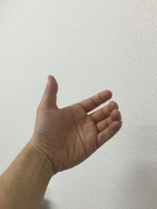 自分の手の写真インスタインマイハンド