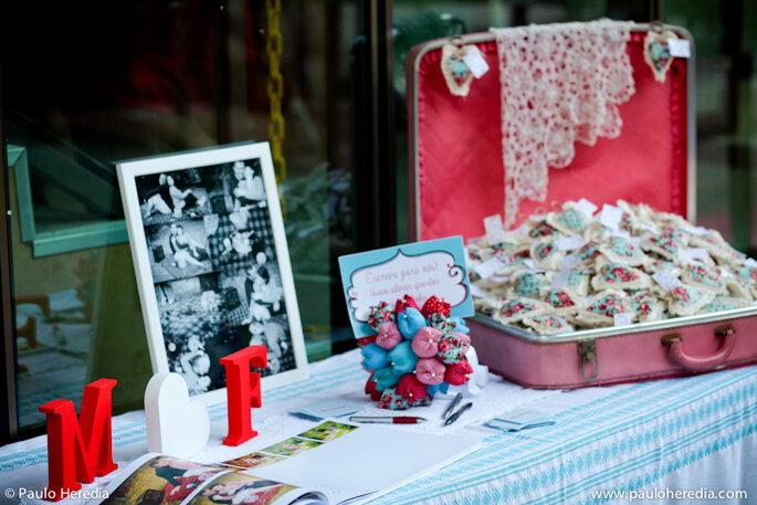 mesa de boda con letras