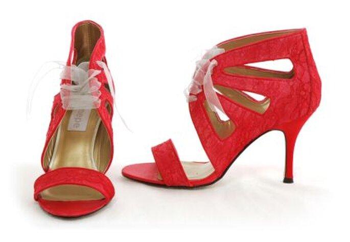 Zapatos de novia de color rojo Enepe 2011- modelo valentine red