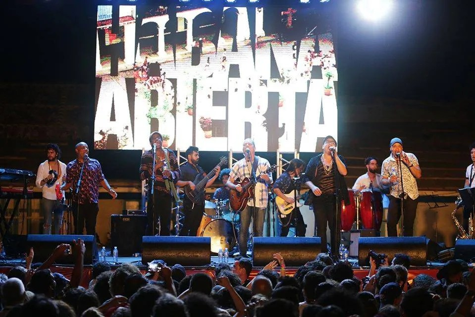 Habana Abierta, during his concert in Gibara. Picture: Gabriel Guerra Bianchini