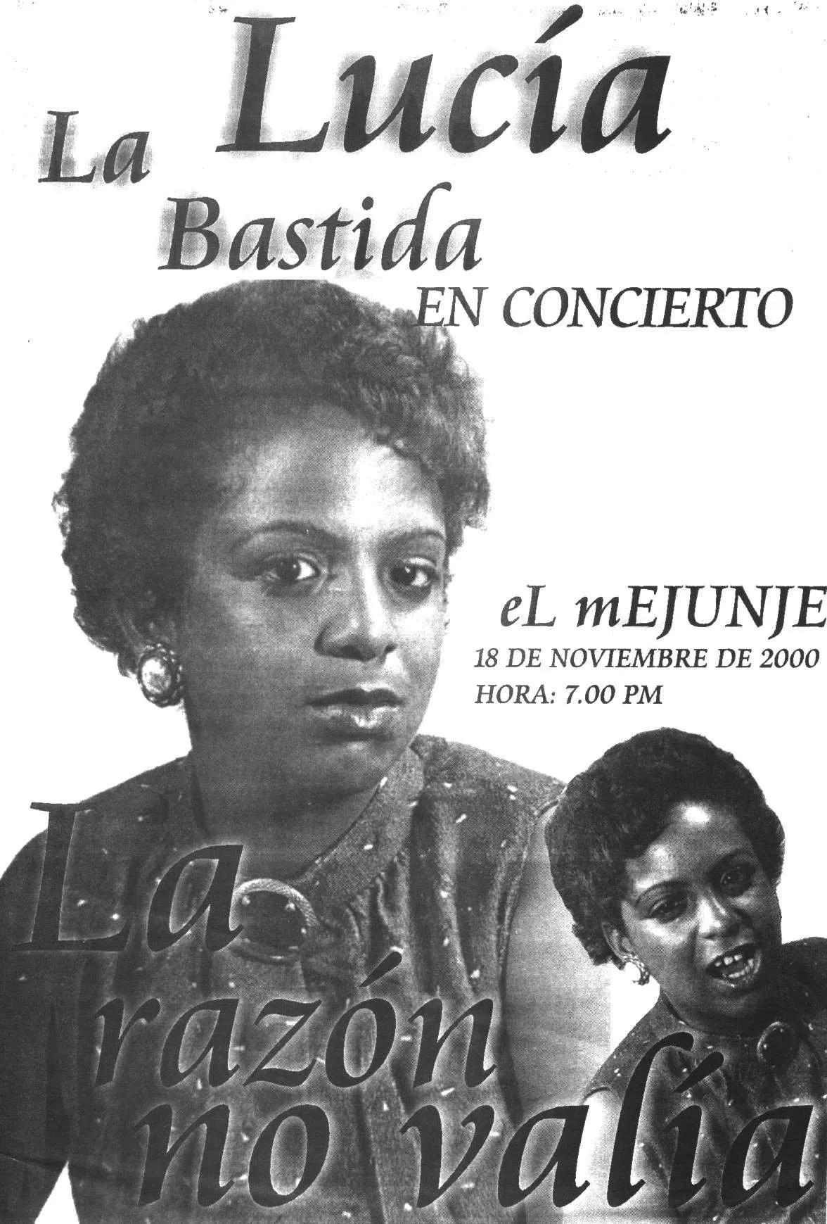 Cartel del primer concierto de Lucía Labastida en El Mejunje. Archivo: Alexis Castañeda