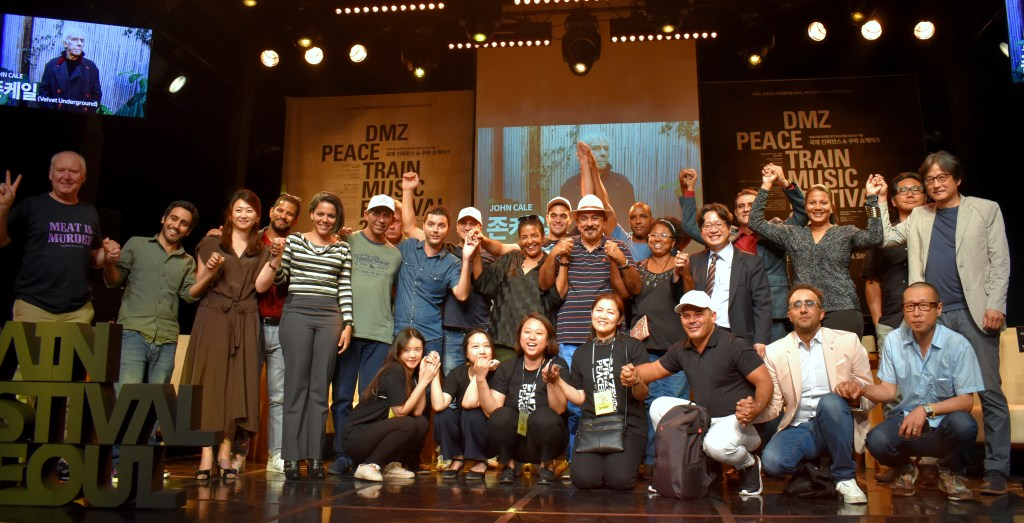 Participation of Cuban artists at the DMZ Festival, South Korea, 2019. Photo: Courtesy of the interviewee