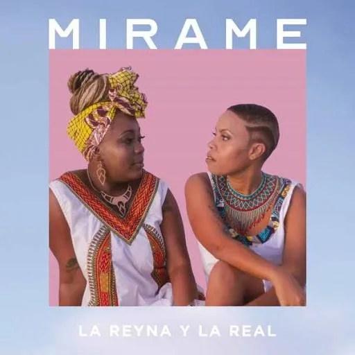 Cover of the album Mírame, by La Reyna y la Real.