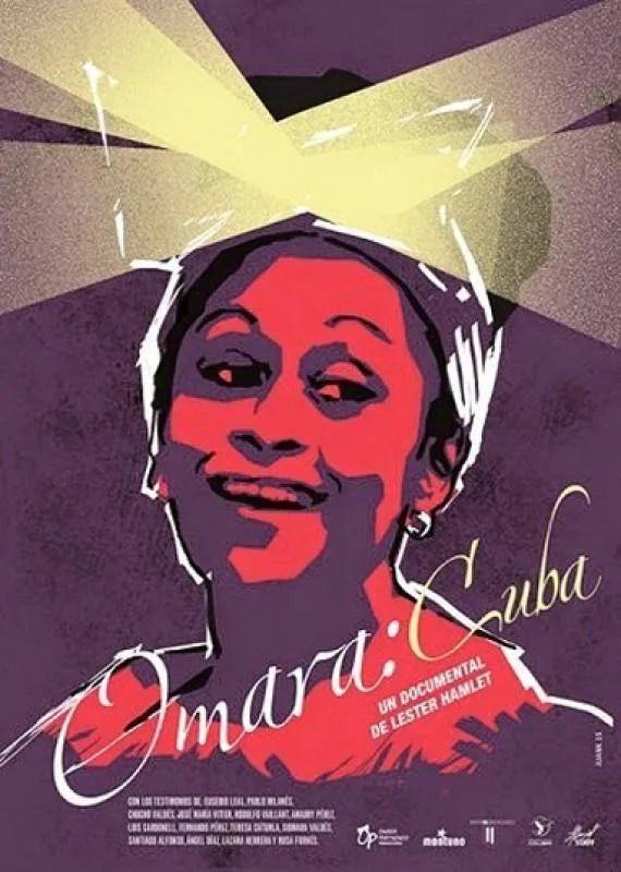 Cartel del documental Omara: Cuba, de Lester Hamlet.