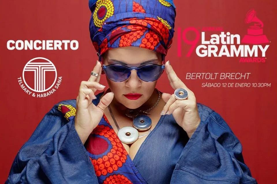 Flyer promocional de Telmary & Habana Sana en el Centro Cultural Bertolt Brecht.