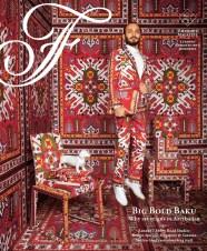 "Nathalie Cusson, Art Director, Natasha Mekhail, Editor: ""Big Bold Baku"" Fairmont"