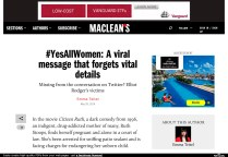 Emma Teitel #YesAllWomen Maclean's