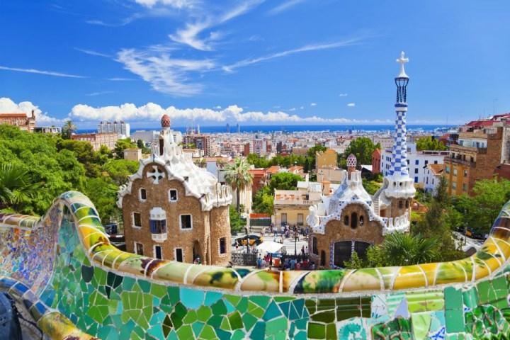 Vista su Barcellona da Park Güell
