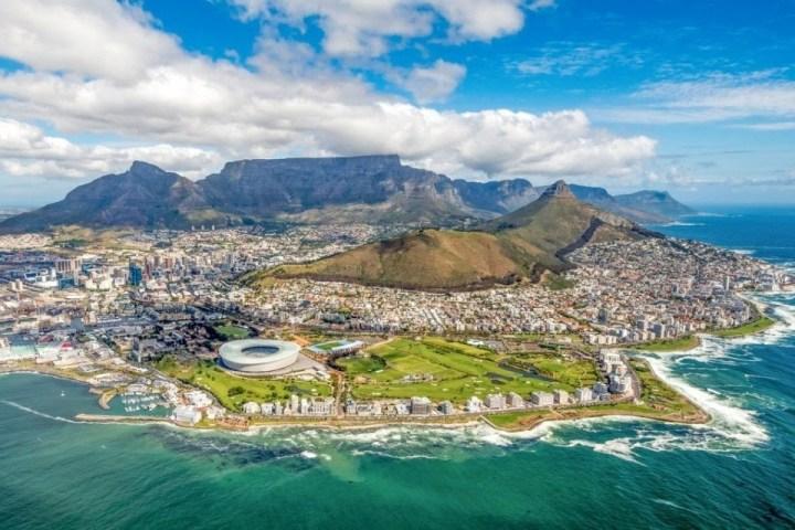 Vista su Città del Capo, Sudafrica.
