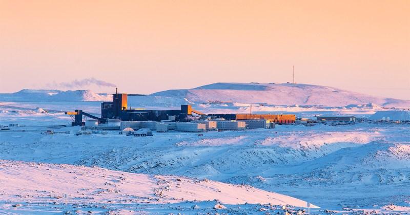 Installations de la Mine Raglan au Nunavik en 2018