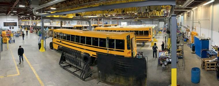Usine de fabrication d'autobus électriques de Lion Électrique