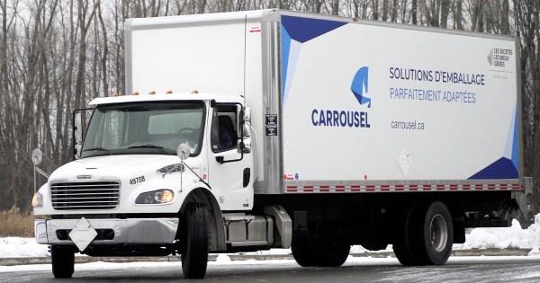 Les Emballages Carrousel - Camion de livraison