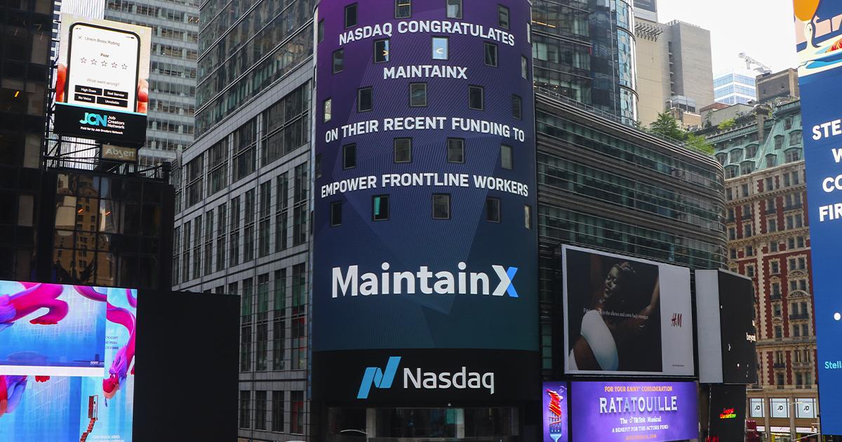 Publicité de l'entreprise MaintainX à New York