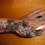 Best Glitter Henna Designs For Hands 2018