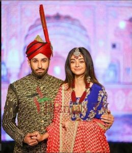 Celebrities on the ramp at Shaan's Fashion Show