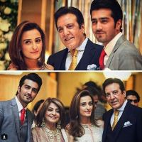 Javed Sheikh his Wife , Son Shahzad and Daughter Momal at a Family Wedding
