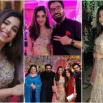 Sonya Hussyn at her sister's wedding event in Karachi