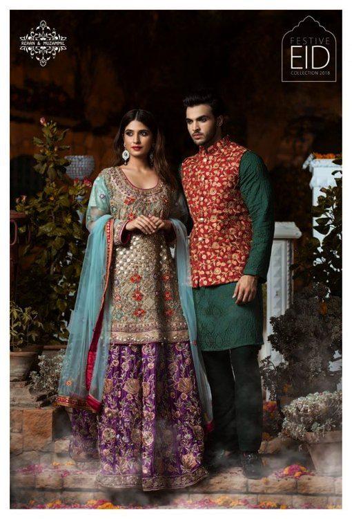 Eid Luxury Dresses Collection 2018 by Rehan & Muzammil (1)