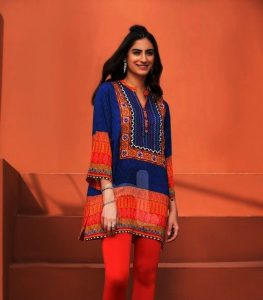 Girls Eid Festive Latest Trendy Dresses 2018 (18)