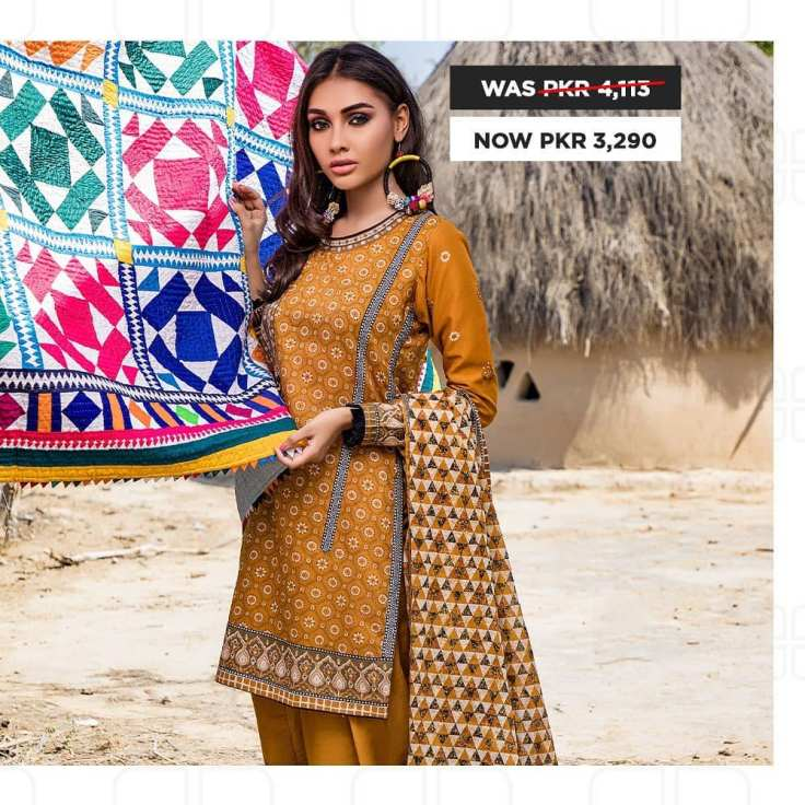 GulAhmed Women's Eid Dresses Collection 2020 (19)