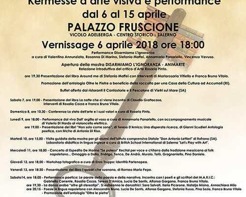"""Mostra """"Disarmiamo l'Ignoranza - AnimArte"""" a Palazzo Fruscione dal 6 al 15 aprile a cura dell'Associazione Maric"""