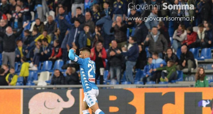 Il Napoli raggiunge il Sassuolo nel finale con una perla di Insigne. Ecco le foto di Sassuolo-Napoli terminata 1 a 1