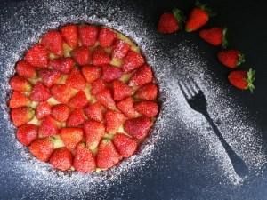 Crostata fragole e crema pasticcera