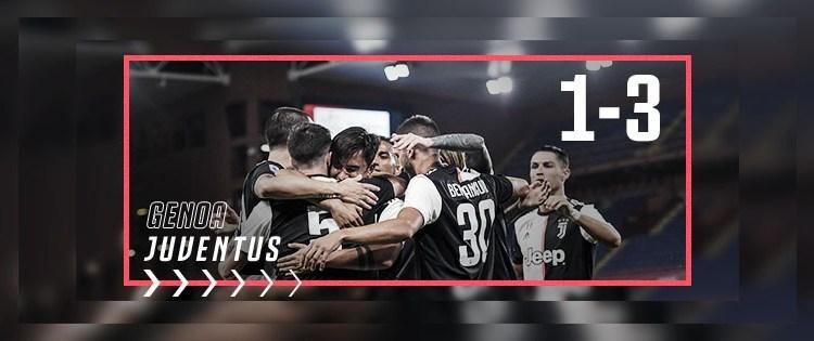 Genoa-Juventus finisce 3-1 per gli ospiti, che rispondono puntualmente al successo della Lazio arrivato nel tardo pomeriggio.