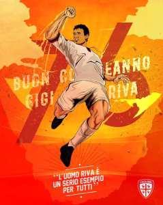 Auguri Gigi Riva bandiera del Cagliari
