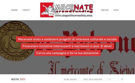Mecenate. Il crowdfunding di Magazine Random