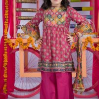 Awesome Ladli Kayseria Kids Suit  2020 Printed Frock 2020