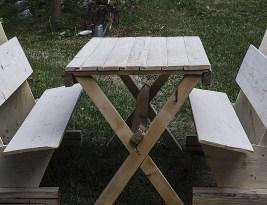 DIY – Masa si banci din lemn