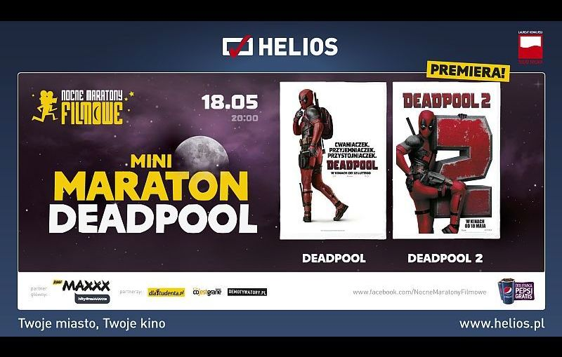 Mini Maraton DEADPOOL w kinie Helios