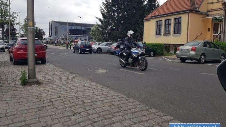 """Działania lubińskich policjantów pod nazwą """"Motocyklista"""""""