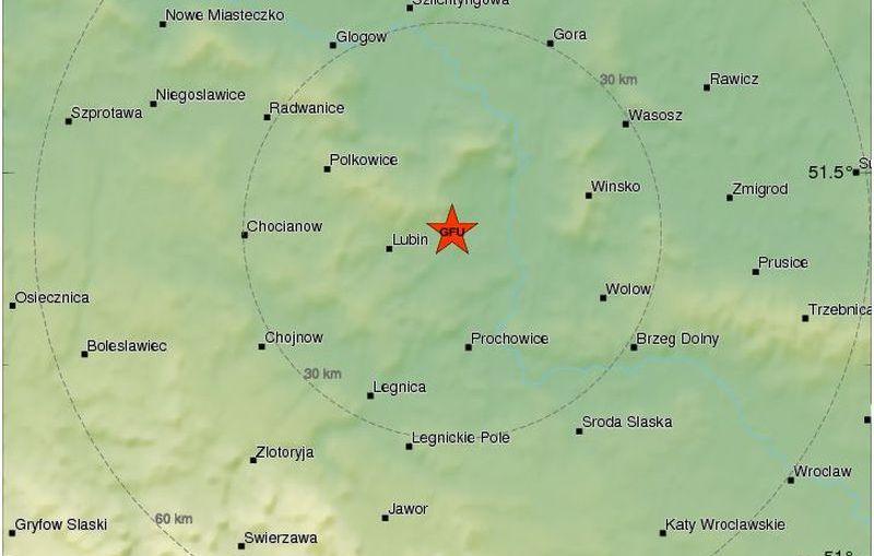 Lubin. Wstrząs w rejonie Lubina