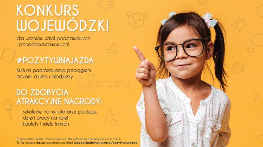 """""""Pozytywna jazda"""" – konkurs dla uczniów organizowany przez Koleje Dolnośląskie"""