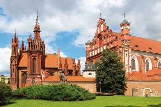St. Anne's Church and the Church of St. Francis, Vilnius, Lithua