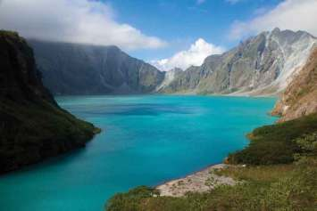 Crater of the Pinatubo volcano